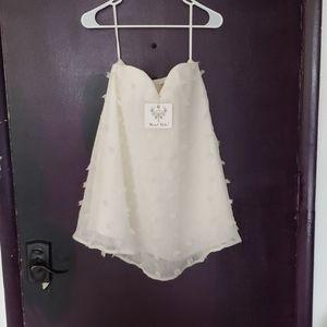 Angel Biba Dresses | Short Strapless White Dress